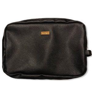 New Tarte Make Up Cosmetic Bag Black Vegan Leather